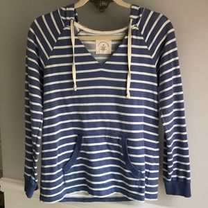 Anthropologie Allihop Striped Pullover Hoodie XS